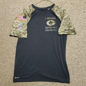 Nike Green Bay Packers Salute to Service shirt